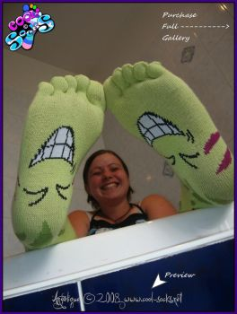 Chaussettes-Socks-Feet-Angy-200817a by Chaussette-Coolsocks