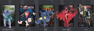 Marvel Lineup 12 by VegetarianGoat