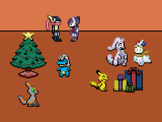 A Pokeumans Christmas (secret santa gift) by TheQuirkyGamer
