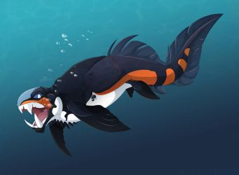 DNK the Dunkleosteus by Dinkysaurus