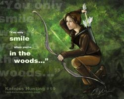 Hunger Games - Katniss Hunting - no.19 by lizzomarek