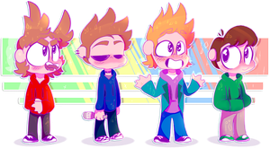 EDDSWORLD CHIBIS (+SPEEDPAINT) by OliveCow