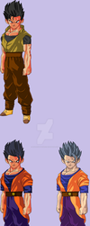 Adult Son Gohan v1 (My Design) by Anorkius-TheNERX