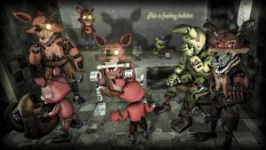 A horde of foxy's came out of nowhere by rhydonYT