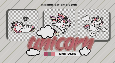 01 | Unicorn Stickers //.png pack by itsvenue