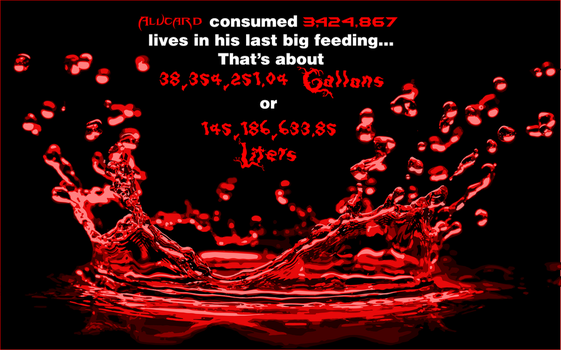 Alucards blood intake by Cosmicmoonshine