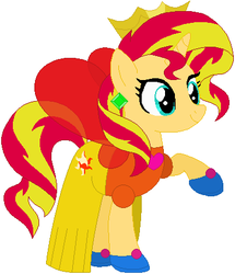 Sunset Shimmer the princess fairy by user15432