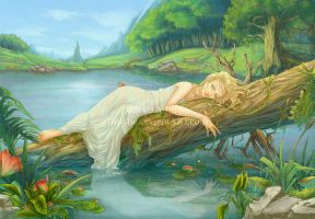 Meryan at the Lake by Heylenne