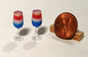 Mini Sparkling Red White Blue Drinks by Kyle-Lefort