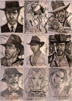 INDIANA JONES Sketch Cards 7 by J-Scott-Campbell