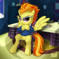 Serious and Stern, Spitfire by Marzzel