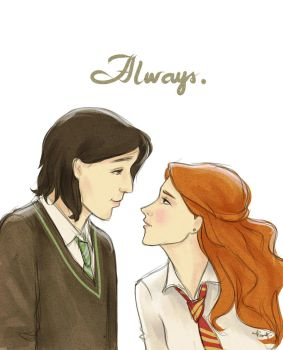 Severus and Lily by kimpertinent