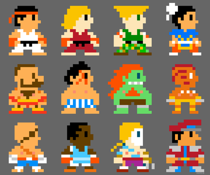 Super Street Fighter Bros 8bit by torokun