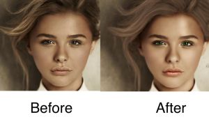 Chloe Moretz Before/After by Shann2j