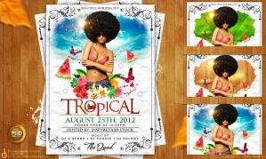 Tropical Poster/Flyer Free PSD by Gallistero
