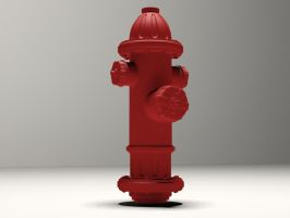 High Poly Fire Hydrant by afloodiscoming