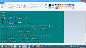 Net the hedgehog Sprite Sheet Screenshot 2 by SonicDBZFan4125