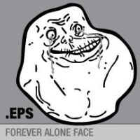 Vector Forever Alone Face by purpleyoshi1