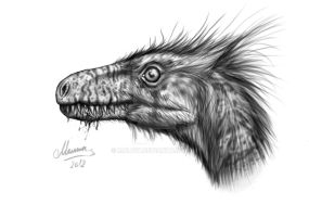 Head of Dromeosaurus by MALvit