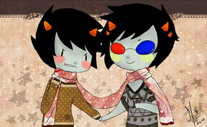 Sollux : Hold Karkats hand. by DeerBoots