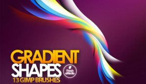 GIMP Gradient Shapes Brushes by Graphicclouds