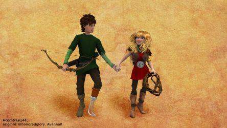 Hiccup and Camicazi - For Glory and AvannaK by acorntree144