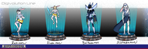 Rabimon Digivolution Line by AnimeVSReality