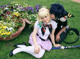 Rin and Shiemi ao no exorcist - kiss by xRika89x