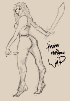 Persian Amazon WIP by Daluba