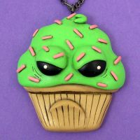 Sour Cupcake Necklace by True-Crimeberry