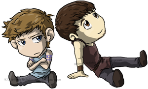 Marcus and Esca chibis by tronnie