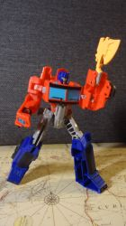 Energon Axe Attack, engaged! by DoctorVK