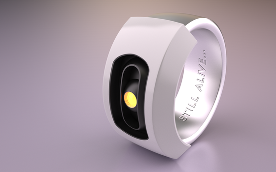 GLaDOS ring by xQUATROx
