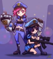 Little Officer Vi X Caitlyn by ptcrow
