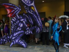 Ridley and Samus by ChozoBoy