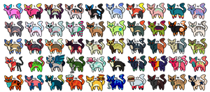 50 Adoptables [1 points] by Galaxy-Art264