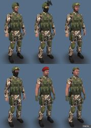 Blue Team Woodland03 by marze3d