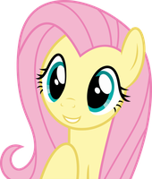 Mlp Fim Fluttershy (happy) vector #3 by luckreza8