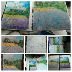 Landscapes in soft pastels by Morgaine-Demonia