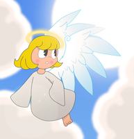 Art Trade: Inkwell Angel by MissD76