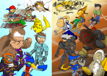 SSB vs PS All Stars 2 by Thesimpleartist4