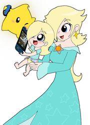 Starline and Luma Play the Switch by Rotommowtom