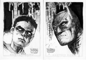 Batman and Robin by butones