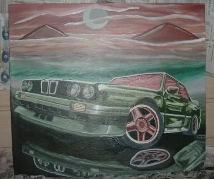 Bmw M3 Series Painting by Yusiley