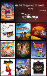 My Top 10 Disney animated films by ToonEGuy