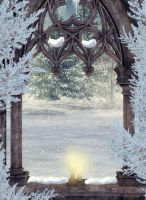 Winter Window background 2 by ED-resources