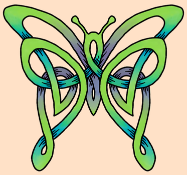Celtic butterfly by dancingbetta
