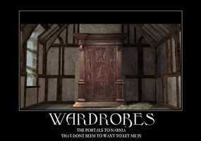 Wardrobes and Narnia by Autocon-Femme