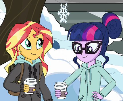 Coffee in the Cold by EmeraldBlast63