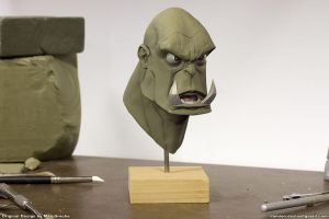 Orc bust by sterna